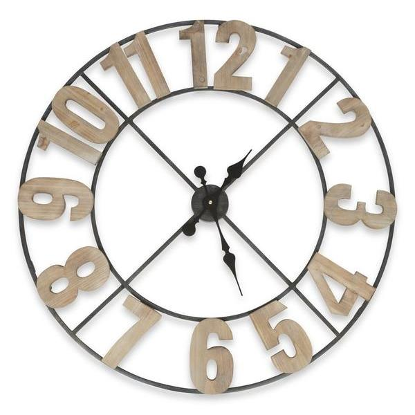 Casa Uno Industrial Skeleton Wall Clock 80cm Front