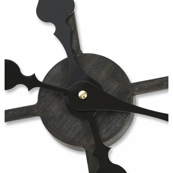 Casa Uno Industrial Skeleton Wall Clock, 80cm