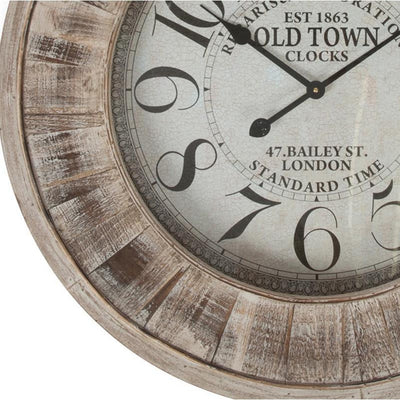 Casa Uno Large Wooden Wall Clock 78cm ME96 Bottom