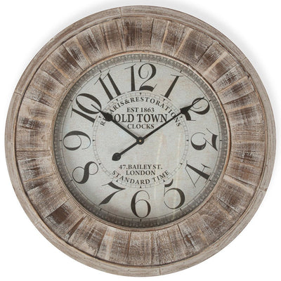 Casa Uno Large Wooden Wall Clock 78cm ME96 Front