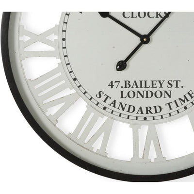 Casa Uno Old Town Iron Roman Numerals Wall Clock 68cm ME102 Bottom