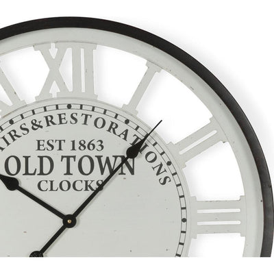 Casa Uno Old Town Iron Roman Numerals Wall Clock 68cm ME102 Top
