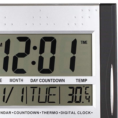 Checkmate Axelrod Multifunctional Digital Wall Clock Black 29cm VGW 608ABlack 2