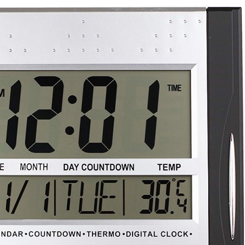Checkmate Axelrod Multifunctional Digital Wall Clock Black 29cm VGW 608ABlack 1