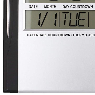 Checkmate Axelrod Multifunctional Digital Wall Clock Black 29cm VGW 608ABlack 3