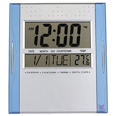 Checkmate Axelrod Multifunction Digital Wall or Desk Clock Blue 25cm VGW 608ABlue 1