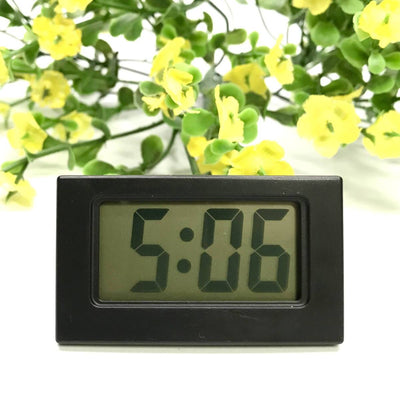 Checkmate Barker Mini Travel Digital Desk Clock Black 6cm VGW-614-BLA 1