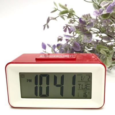 Checkmate Brycen Multifunction Digital Alarm Clock Red 11cm VGW-3620-RED 1