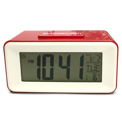 Checkmate Brycen Multifunction Digital Alarm Clock Red 11cm VGW-3620-RED 2