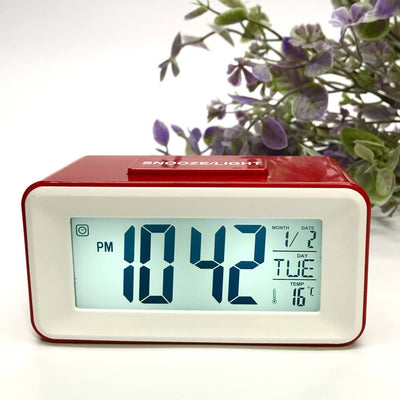 Checkmate Brycen Multifunction Digital Alarm Clock Red 11cm VGW-3620-RED 3