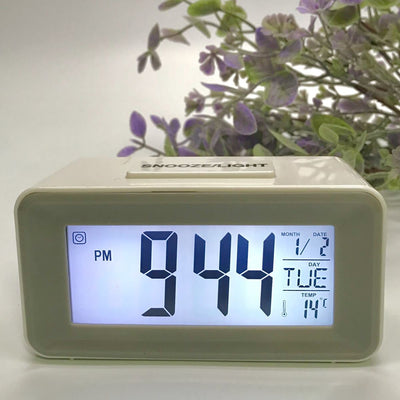 Checkmate Brycen Multifunction Digital Alarm Clock White 11cm VGW-3620-WHI 3