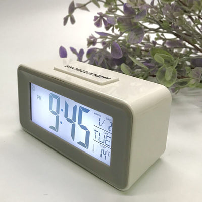 Checkmate Brycen Multifunction Digital Alarm Clock White 11cm VGW-3620-WHI 5