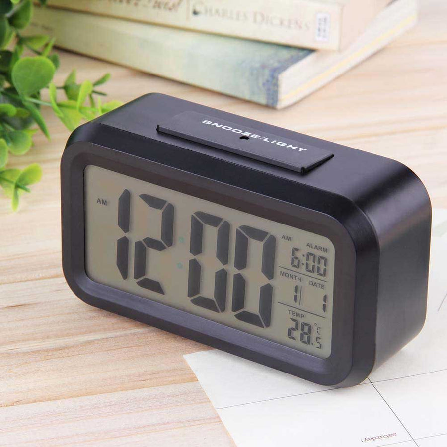 Checkmate Chapman Multifunction Digital Alarm Clock, Black, 14cm
