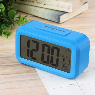 Checkmate Chapman Multifunction Digital Alarm Clock Blue 14cm VGW-1065Blue Back1
