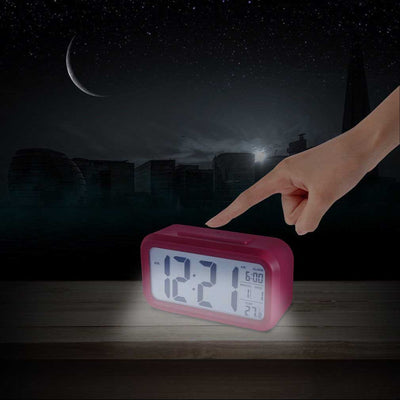 Checkmate Chapman Multifunction Digital Alarm Clock Pink 14cm VGW-1065Pink Backlight