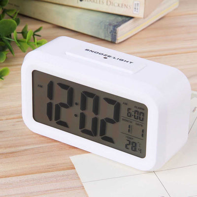 Checkmate Chapman Multifunction Digital Alarm Clock White 14cm VGW-1065White Back1