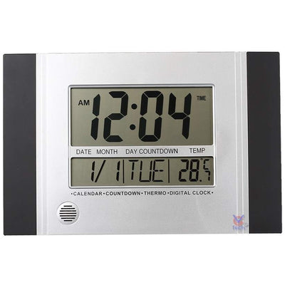 Checkmate Connerty Multifunctional Digital Wall Clock Black 29cm VGW 601Black Front2
