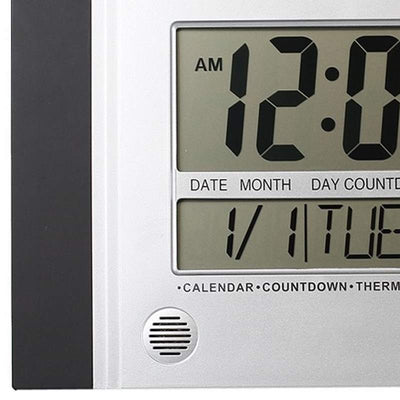 Checkmate Connerty Multifunctional Digital Wall Clock Black 29cm VGW 601Black 2