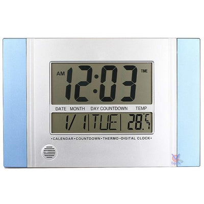 Checkmate Connerty Multifunctional Digital Wall Clock Blue 29cm VGW 601Blue 1