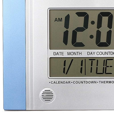 Checkmate Connerty Multifunctional Digital Wall Clock Blue 29cm VGW 601Blue 2