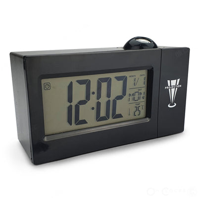 Checkmate Easton Voice Controlled Projection Alarm Clock Black 15cm VGW 3605 BLA 1