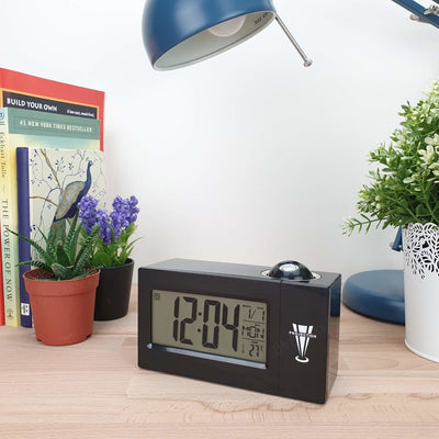 Checkmate Easton Voice Controlled Projection Alarm Clock Black 15cm VGW 3605 BLA 2