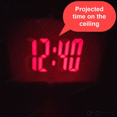 Checkmate Easton Voice Controlled Projection Alarm Clock Black 15cm VGW 3605 BLA 6