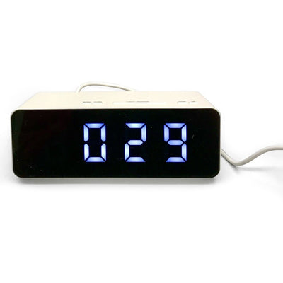 Checkmate Holland Multifunction Digital Alarm Clock White 16cm VGW-8211-WHI 2
