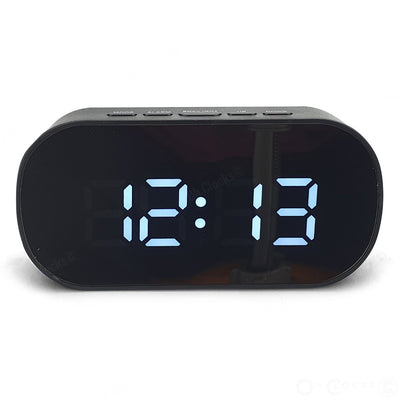 Checkmate Hudson Mirrored Face LCD Alarm Clock Black 13cm VGW 6506 BLA 3