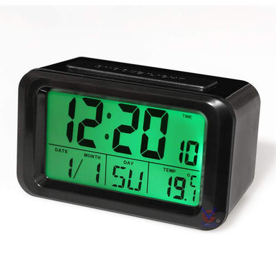 Checkmate Hugo Multifunction Digital Alarm Clock Black 12cm VGW 8773B Back2