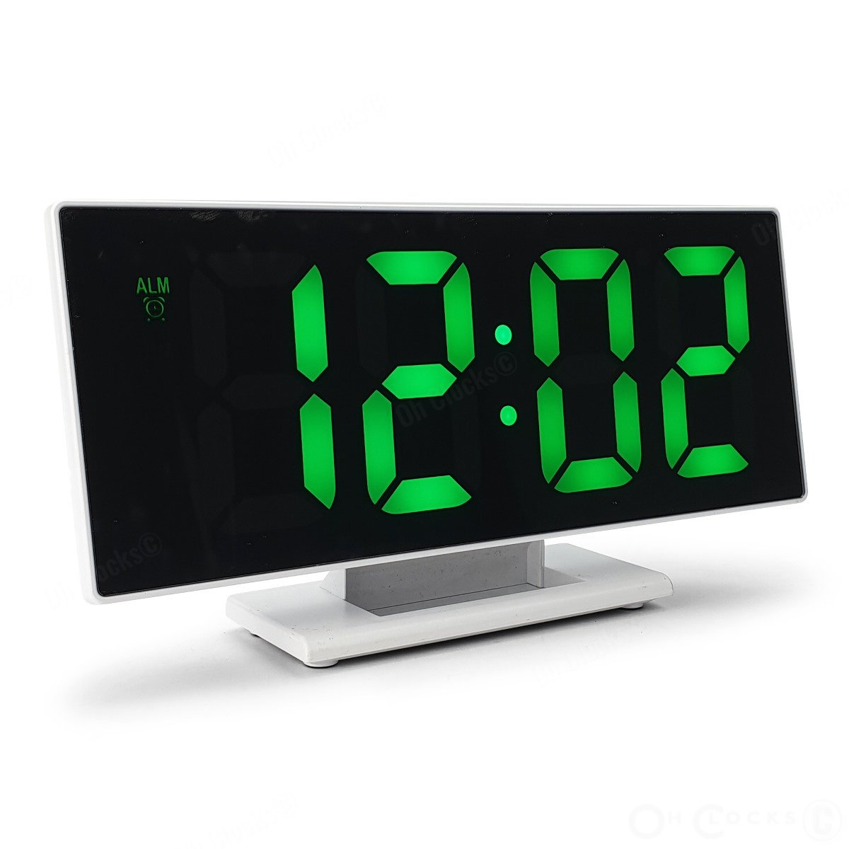 Checkmate Hunter Mirrored Face LCD Alarm Clock Green 19cm VGW 3618 GRE 1