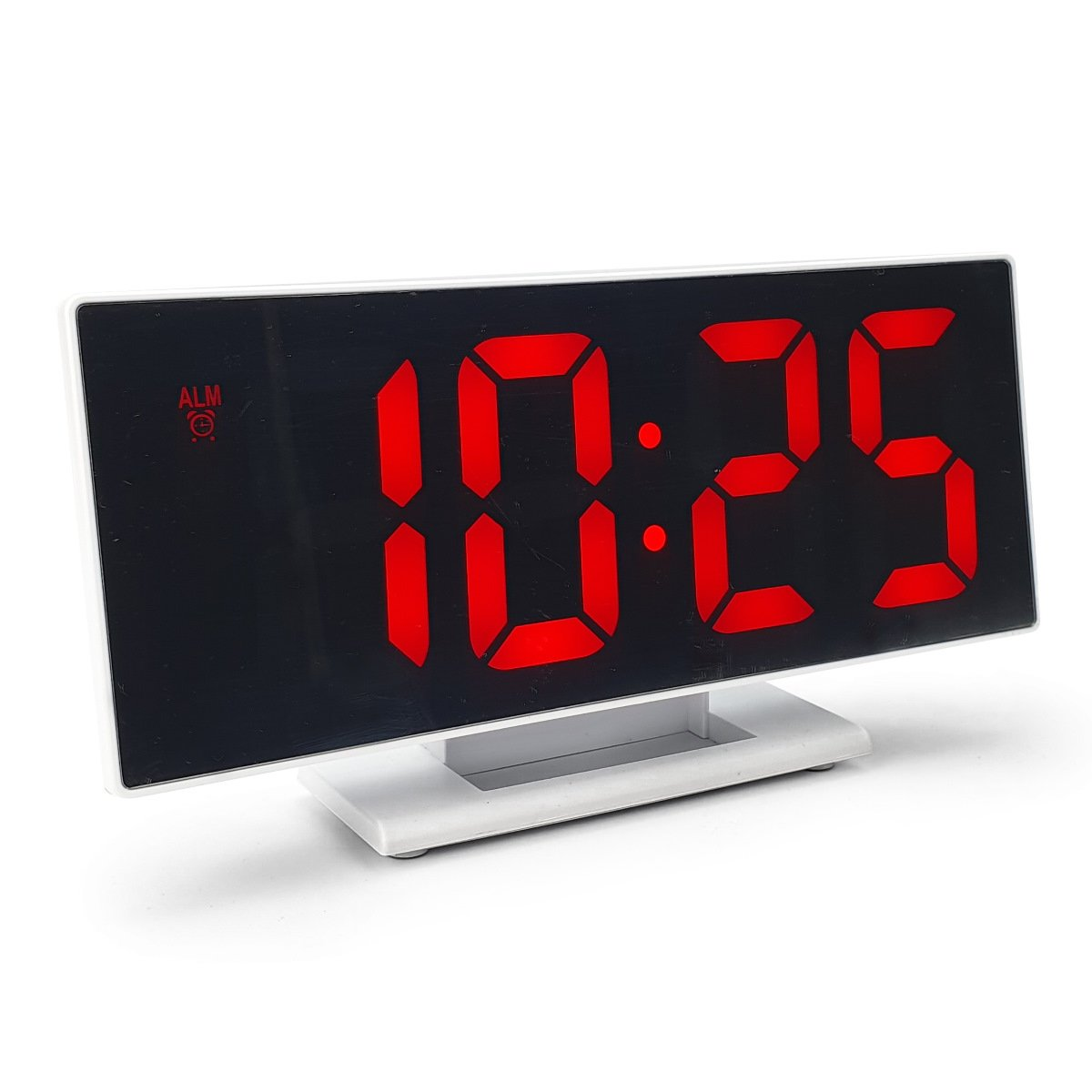 Checkmate Hunter Mirrored Face LCD Alarm Clock Red 19cm VGW 3618 RED 1