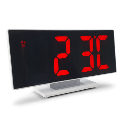 Checkmate Hunter Mirrored Face LCD Alarm Clock Red 19cm VGW 3618 RED 7