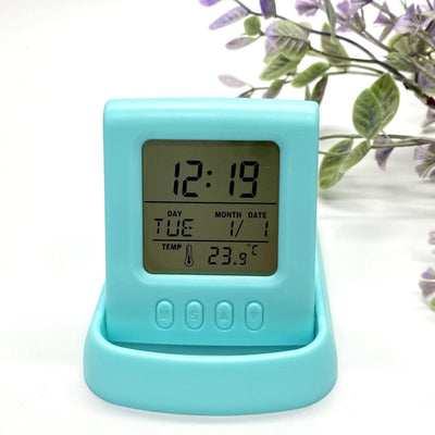 Checkmate Miles Multifunction Travel Alarm Clock Blue 11cm VGW-615-BLU 1