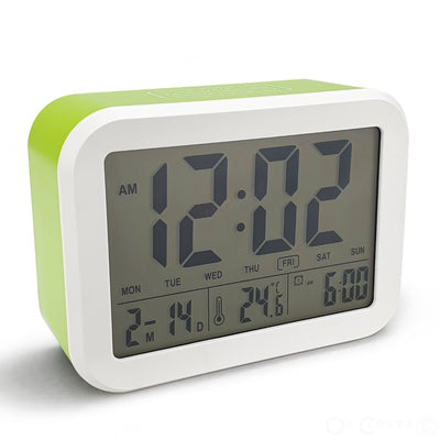 Checkmate Palmer Multifunction LCD Talking Alarm Clock Green 12cm VGW 9200 GRE 1