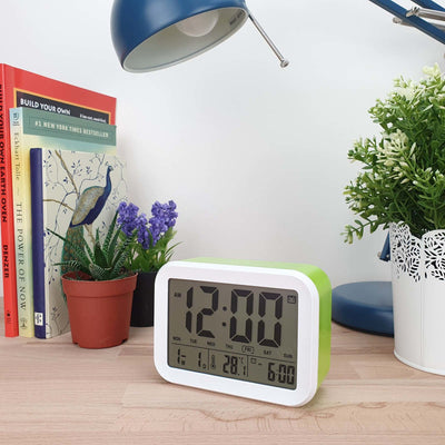 Checkmate Palmer Multifunction LCD Talking Alarm Clock Green 12cm VGW 9200 GRE 2