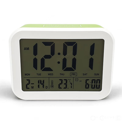 Checkmate Palmer Multifunction LCD Talking Alarm Clock Green 12cm VGW 9200 GRE 3