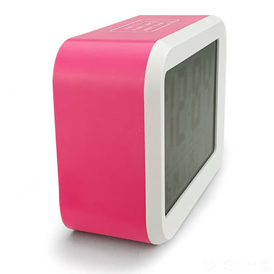 Checkmate Palmer Multifunction LCD Talking Alarm Clock Pink 12cm VGW 9200 PIN 4