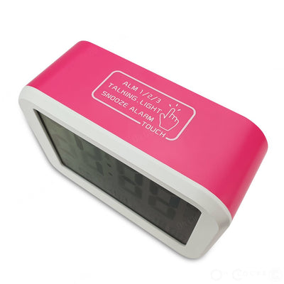 Checkmate Palmer Multifunction LCD Talking Alarm Clock Pink 12cm VGW 9200 PIN 5