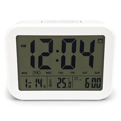 Checkmate Palmer Multifunction LCD Talking Alarm Clock White 12cm VGW 9200 WHI 3