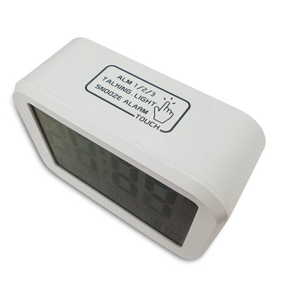 Checkmate Palmer Multifunction LCD Talking Alarm Clock White 12cm VGW 9200 WHI 5