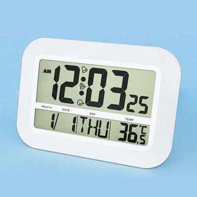 Checkmate Pearson Jumbo LCD Calendar Temperature Wall Clock 46cm VGW-809 Angle