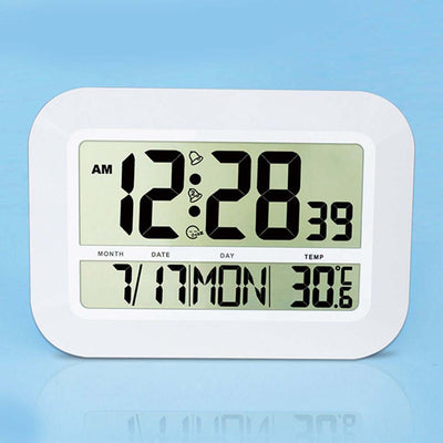 Checkmate Pearson Jumbo LCD Calendar Temperature Wall Clock 46cm VGW-809 Front