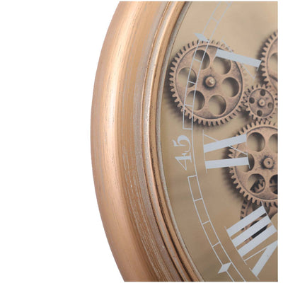 Chilli Decor Champs Elysees FOB Watch Metal Moving Gears Wall Clock Gold 62cm TQ-Y637 6