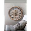Chilli Decor JD Basset Industrial Metal Moving Gears Wall Clock Copper Wash 47cm TQ-Y685 2
