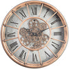 Chilli Decor JD Basset Industrial Metal Moving Gears Wall Clock Copper Wash 47cm TQ-Y685 3