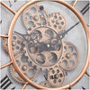 Chilli Decor JD Basset Industrial Metal Moving Gears Wall Clock Copper Wash 47cm TQ-Y685 6