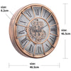 Chilli Decor JD Basset Industrial Metal Moving Gears Wall Clock Copper Wash 47cm TQ-Y685 9