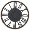 Chilli Decor Theo Industrial Country Wood Metal Moving Gears Wall Clock 73cm TQ-Y710 5