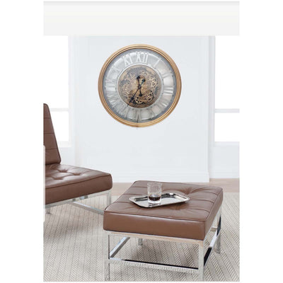 Chilli Decor Venitian Classic Gold Silver Metal Moving Gears Wall Clock 72cm TQ-Y662 7